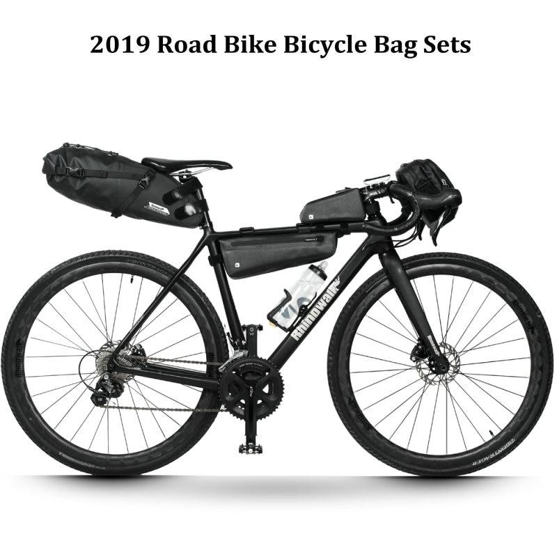 Rhinowalk 4 pièce/ensemble vélo de route longue Distance cyclisme sac ensembles étanche grande capacité pour vélo selle guidon cadre Tube sac