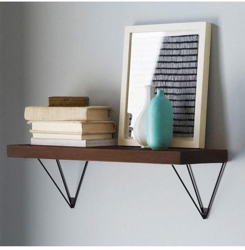 Nordic Wall Mounted Shelf Bookcase Bookshelf Holder Wood Metal
