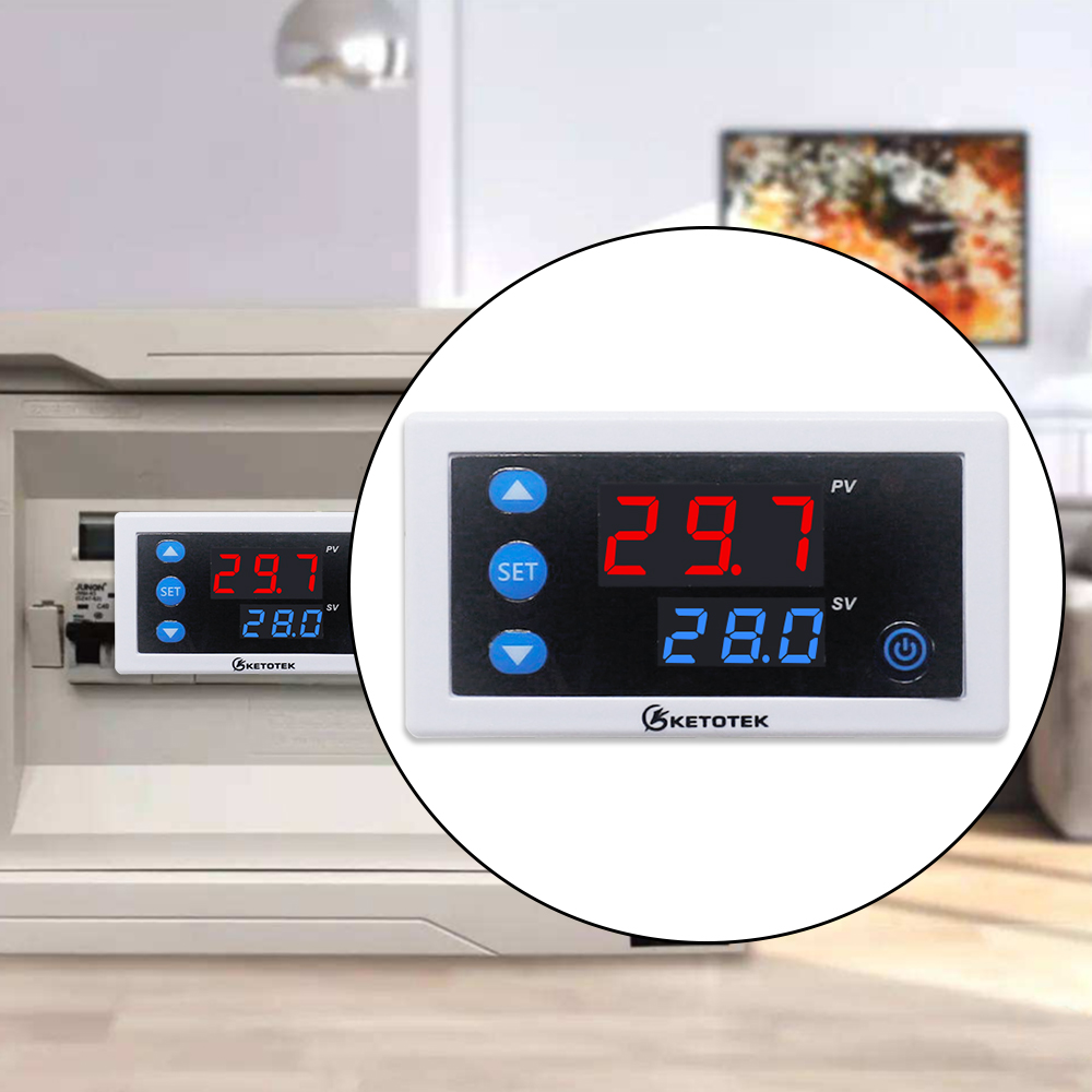 HTB1tD 4dBWD3KVjSZKPq6yp7FXar W3230 DC 12V 24V 110V-220V AC Digital Temperature Controller LED Display Thermostat With Heating/Cooling Control Instrument