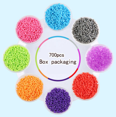 700pcs /box 2.6mm Mini Hama Beads About Kids Toys Available Perler PUPUKOU Beads Activity Fuse Beads