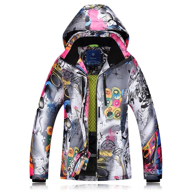 2019 Winter Ski Jackets Ladies Single Double Board Ski Clothing Windproof Waterproof Warm Thick Coat Ski Jacket Women