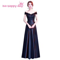 new arrivals 2019 women black long formal floor length sleeveless dresses ladies evening wear gown for special occasions H4183