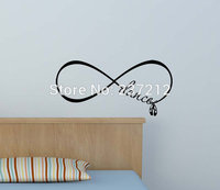 New Dance Ballet Shoes Forever Infinity Symbol Removable Vinyl Wall Decal Lettering Saying Quote Stencil Art
