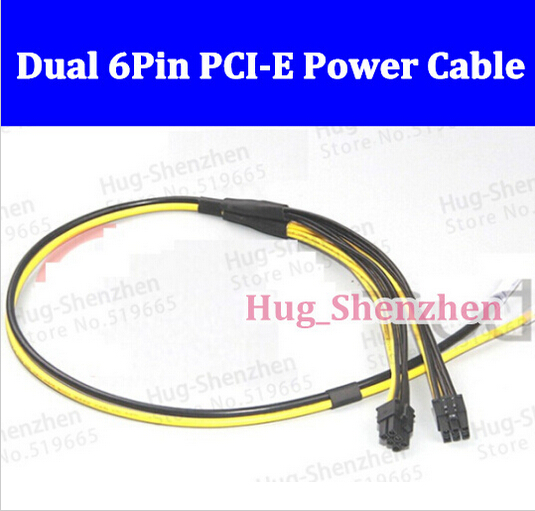 Free shipping 20PCS New 16AWG Dual 6Pin PCI-E Power Cable For Dell 1470 BTC Miner Machine server for Jeroen