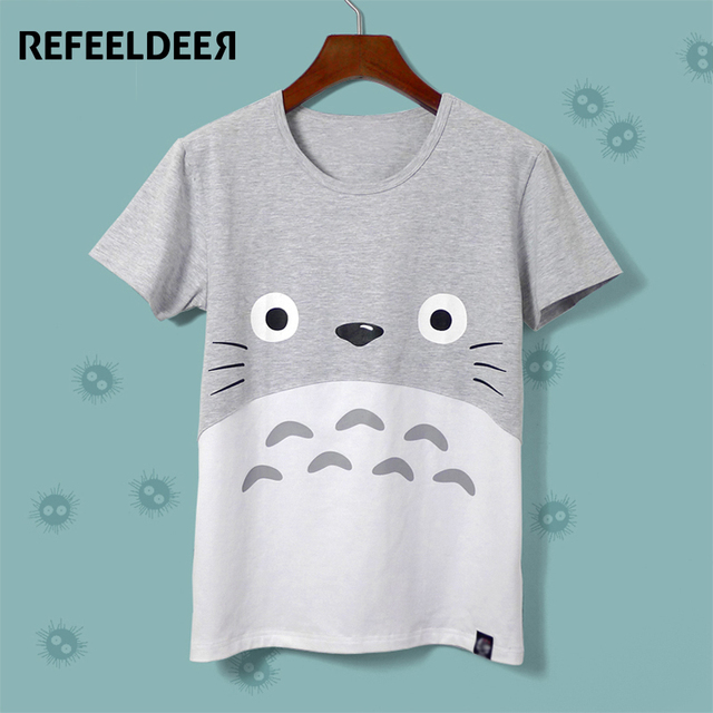 Harajuku Kawaii Cat Totoro T-Shirt Female 2017 Summer Short Sleeve Cotton T shirt Women Tops Graphic Tee Shirt Femme Tshirt