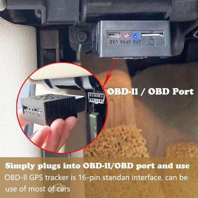 OBD II GPS Tracker 16PIN OBD Plug Play Car GSM OBD2 Tracking Device GPS locator OBDII with online Software IOS Andriod APP 3