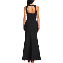 INDRESSME Women Bandage Dress Long Deep V-Neck Sleevless Elegant Girls Party Gown Dresses 2018 New