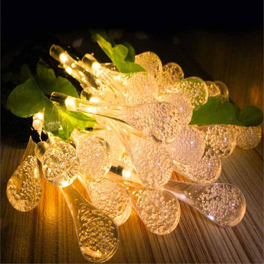 2.2m 20Leds USB LED String Light Waterdrop 8 Mode Twinkle Fairy Light Bulb Lamps Christmas Party Garland Home Decor Lighting (11)
