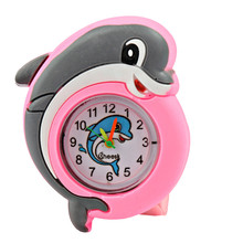 New Cartoon Silicone Watches Children Animals Small Dolphin Watches Pats Circle Flags Watches Cute Boys Girls Gifts