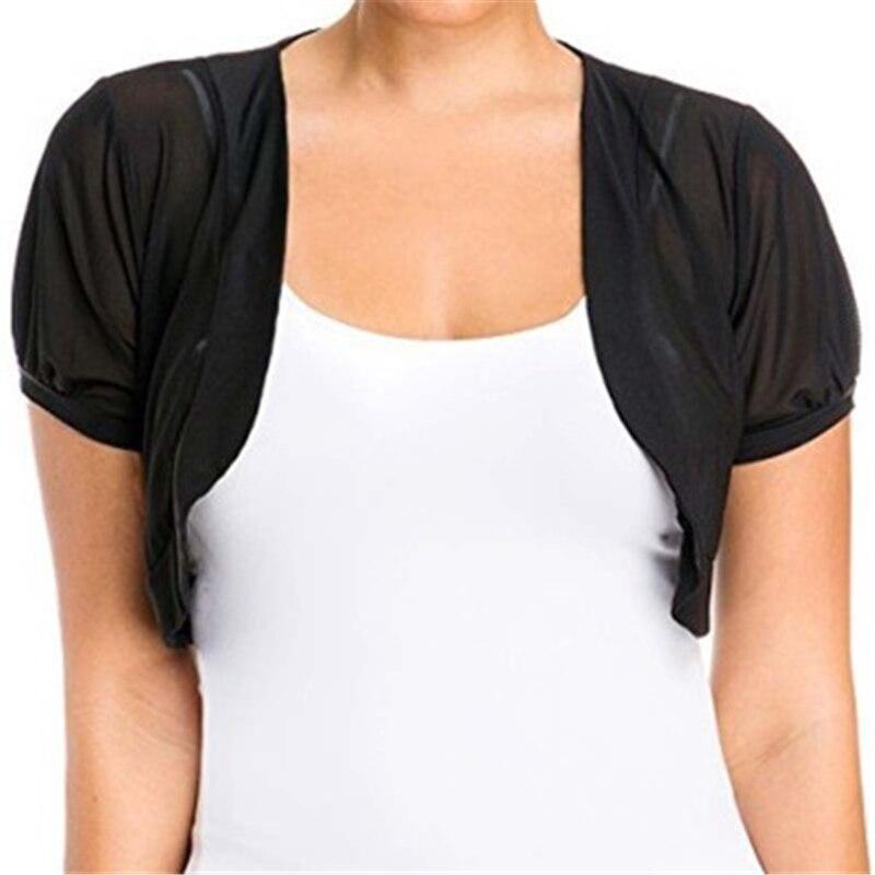 2019 Summer Women New Short-Sleeved Chiffon Cardigan Fashion Casual Solid Thin Small Shawl Chiffon Cardigan Large Size 2XL