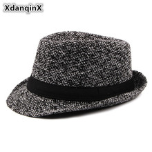 XdanqinX Autumn Winter New Style Mens Vintage Fedoras Casual Wild Jazz Hats Western Male Bone Fashion Brand Cap Dads Hat