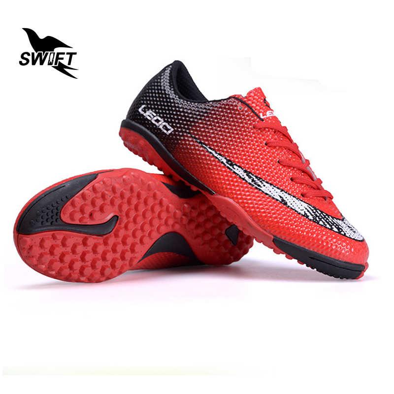 871a5157 Лидер продаж Детская беговая дорожка Футбол Бутсы Новые оригинальные Обувь  для футбола детская мини сапоги дешевые
