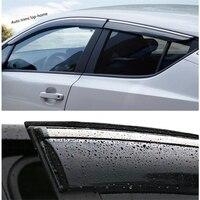 Yimaautotrims viseiras da janela toldos vento chuva sun defletor viseira guarda ventilação cobre kit apto para toyota C HR chr 2016 2020|Estilo de cromo| |  -
