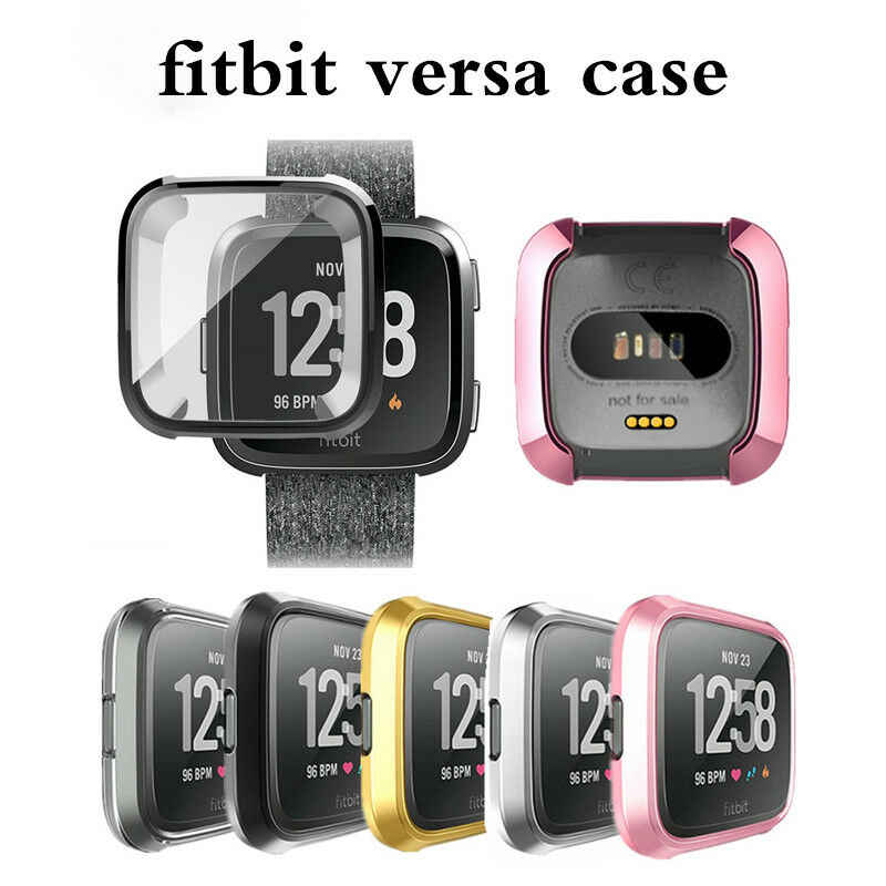 For Fitbit Versa Silicone Ultra thin TPU Shell Case Screen Protector Frame Cover  Smart Accessories