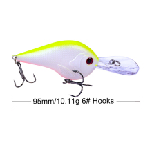 Купить с кэшбэком 1PCS 9.5CM 11G Lifelike Crankbait Fishing Lure Hook Tackle Fishing Wobbler Minnow Artificial Japan Hard Bait Swimbait