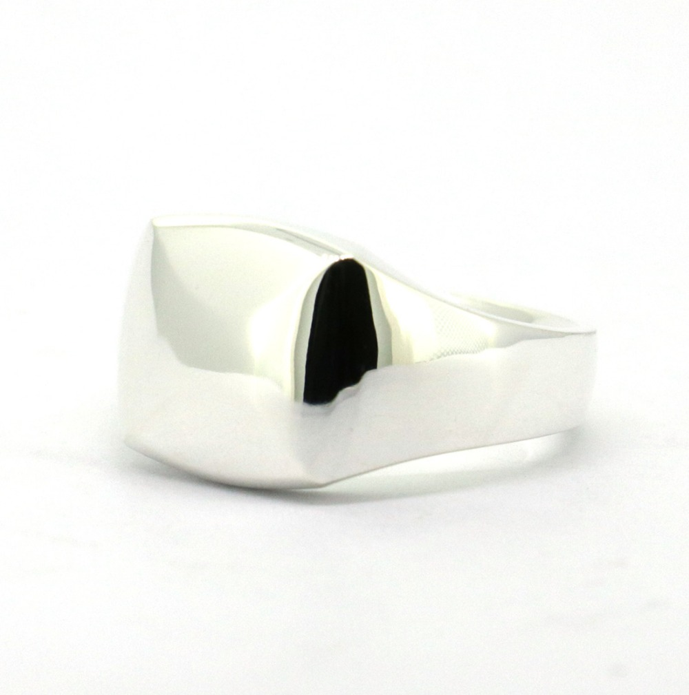 Tailor Made Shiny Solid 925 Sterling Silver Square Signet Ring US 4 16 (#NR001)