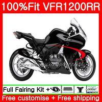 Injection For HONDA VFR1200RR VFR 1200 RR 10 11 12 13 111NO.0 VFR 1200 VFR 1200RR VFR1200 2010 2011 2012 2013 Fairing Gloss blk