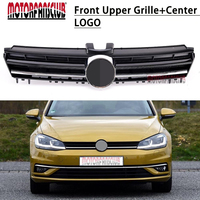 ABS Glossy Black Front Grille For VW Golf MK7 2013 2014 2015 2016 R-Line Style Black Chrome Radiator Hood Grill