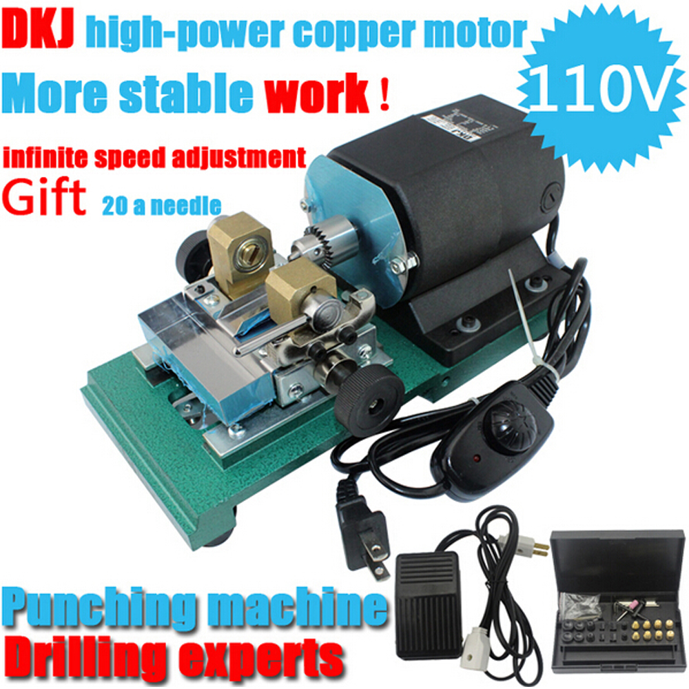 Mini Drill Press Electric Drilling Machine Adjustable Speed Hole Puncher Pearl Punching Machine Jewelry Making Tools 220v mini electric drilling machine variable speed micro drill press grinder pearl drilling diy jewelry drill machines