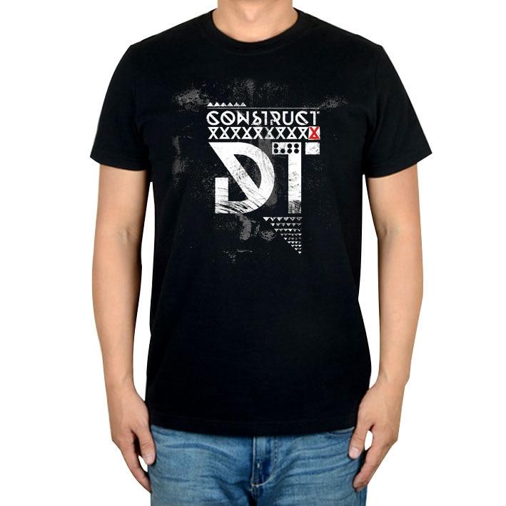 Черная рубашка в стиле рок