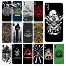 Yinuoda pyramide auge symbol illuminati Silikon Transparent Telefon Fall für Apple iPhone 8 7 6 6S Plus X XS MAX 5 5S SE XR Abdeckung(China)