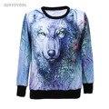 Women Hoodies 3D Wolf Sweatshirts Womens Hoodie Sweatshirt Shirts Long Sleeve Casual Animal Hooded Coat Pullover Joggings Tops