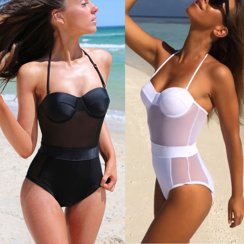 Able Hot Sell Sexy Backless Swimsuit One Piece Swimwear Women Push Up Bandage Bathing Suit Solid Swimsuits Trikini Monokini Beachwear Yoga Traditional & Cultural Wear