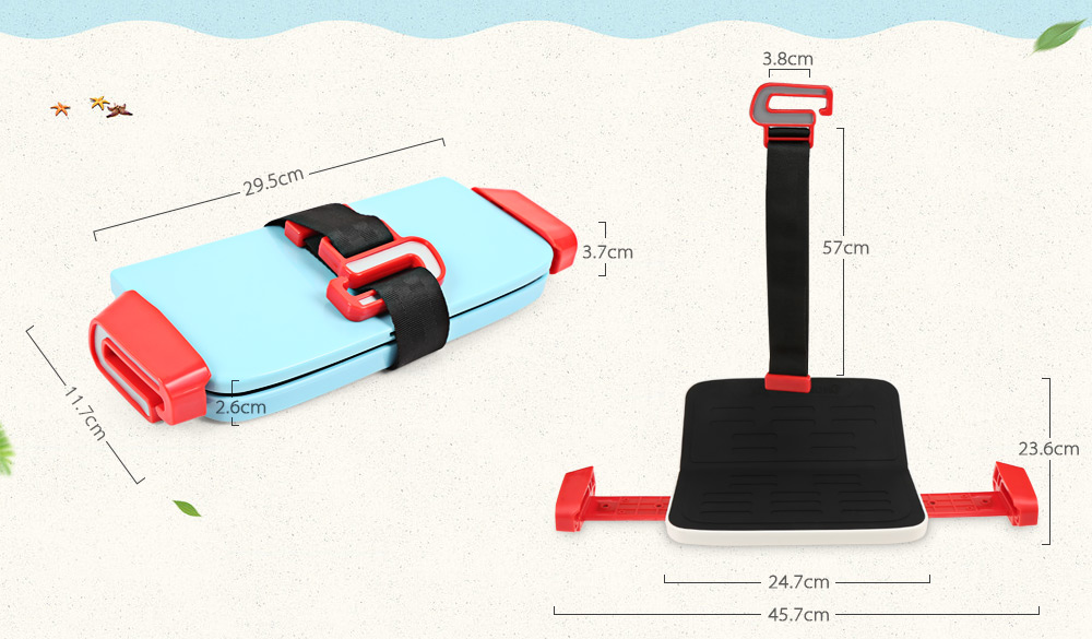 Portable Foldable Children Kids Safety Booster Car Seat Adjus ( (4)