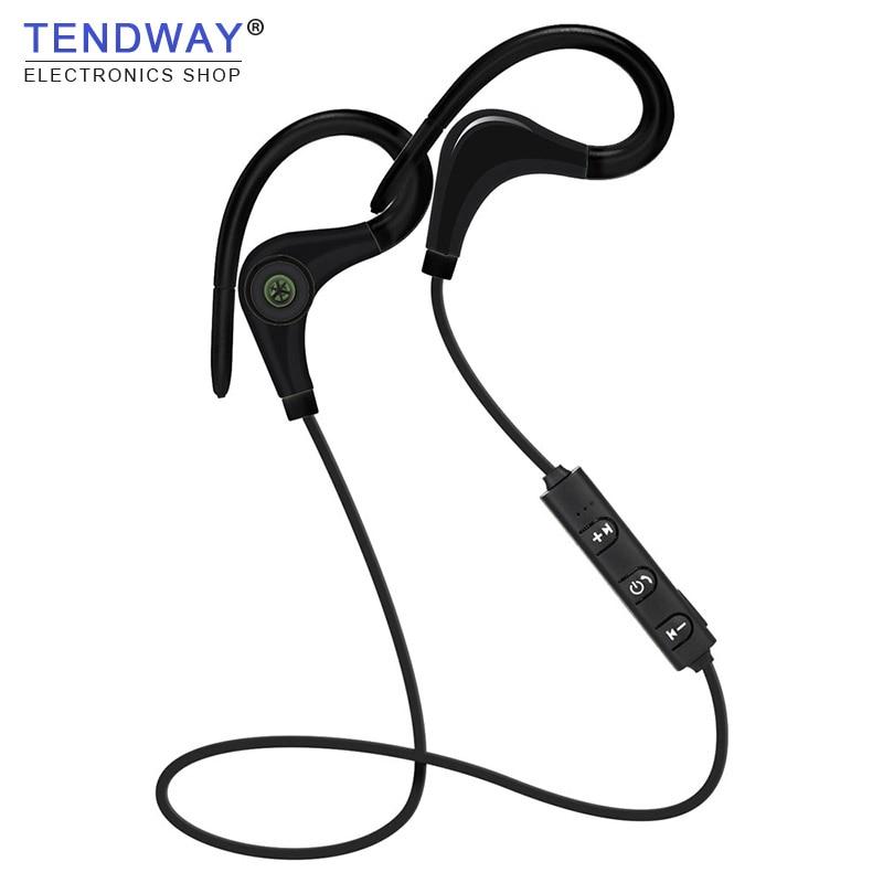 Tendway Спортивные Bluetooth Наушники вкладыши Беспроводной в ухо Handfree гарнитура для Бег для ходьбы и вождения спортивных Auriculares