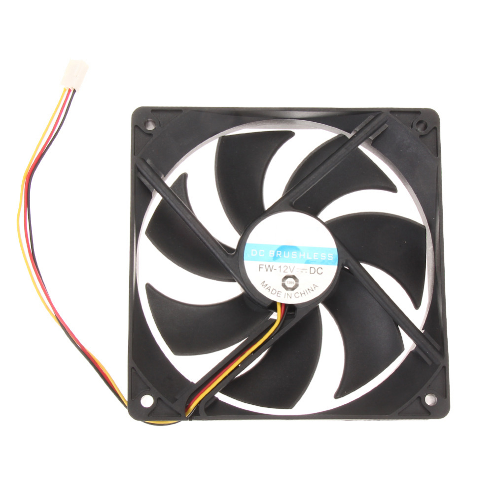 120x25mm 120mm Fan 12V DC Brushless PC Computer Case Cooler 3Pin Connector Cooling Fan For CPU Radiating For Desktop PC Hot Sale 1 piece gdstime 3pin dc fan 80mm 80x80x10mm 8cm 12v pc computer cpu cooler cooling fan 3 wire fg 8010 mute cooler high quality