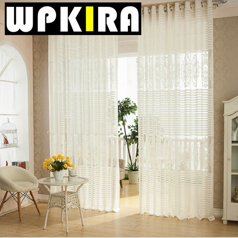 Luxury Net Mesh Curtains Embroidered White Elegant Curtains Living Room  Balcony Tulle European Para Sala White