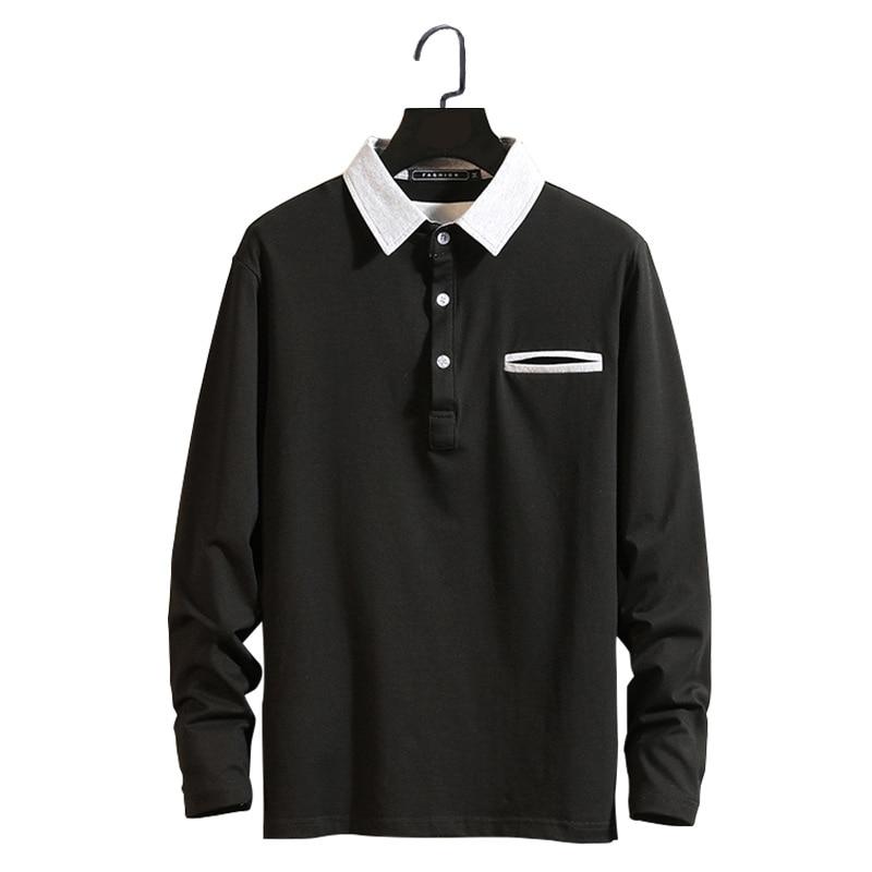 2019 Spring Fashion Brand Men   Polo   Shirt Men Casual Long Sleeve Pocket Streetwear Mens   Polos   Shirts Camisa Pol Masculino