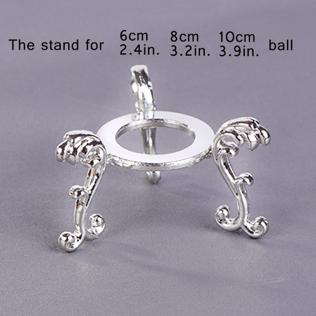 1 pcs Crystal Base for Crystal Ball Transparent Glass Square Base Decoration Ball Accessories