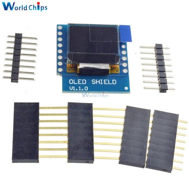Livraison Gratuite Mini 0.66 Pouce 64X48 OLED Bouclier pour WeMos D1 IIC/I2C SSD1306 IC Lecteur Oled Module 3.3 V Avec Des Épingles pour Arduino
