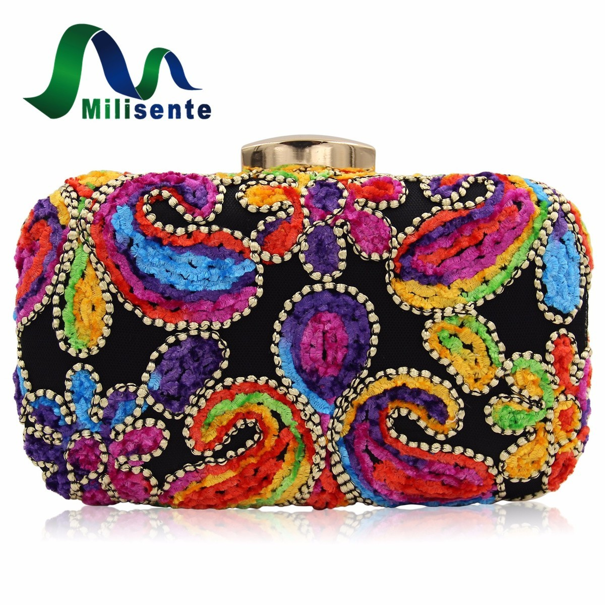 milisente 2017 new design women velour day clutches evening bag lady party purse wedding clutch. Black Bedroom Furniture Sets. Home Design Ideas