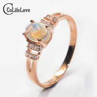 Dazzling Opal Ring 0 7ct 5mm 7mm Natural Opal Gemstone Ring Solid 925 Sterling Silver Opal