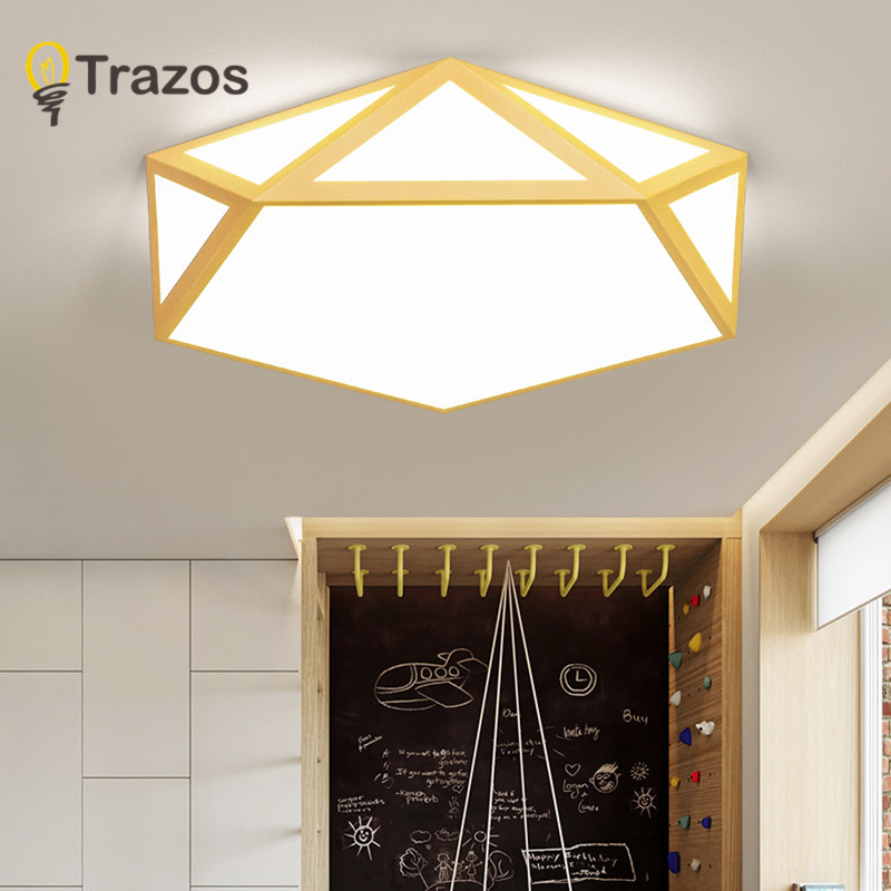 TRAZOS LED Ceiling Lights for Bedroom with remote control 10cm height ceiling lamp Wooden meters modern house lighting fixture