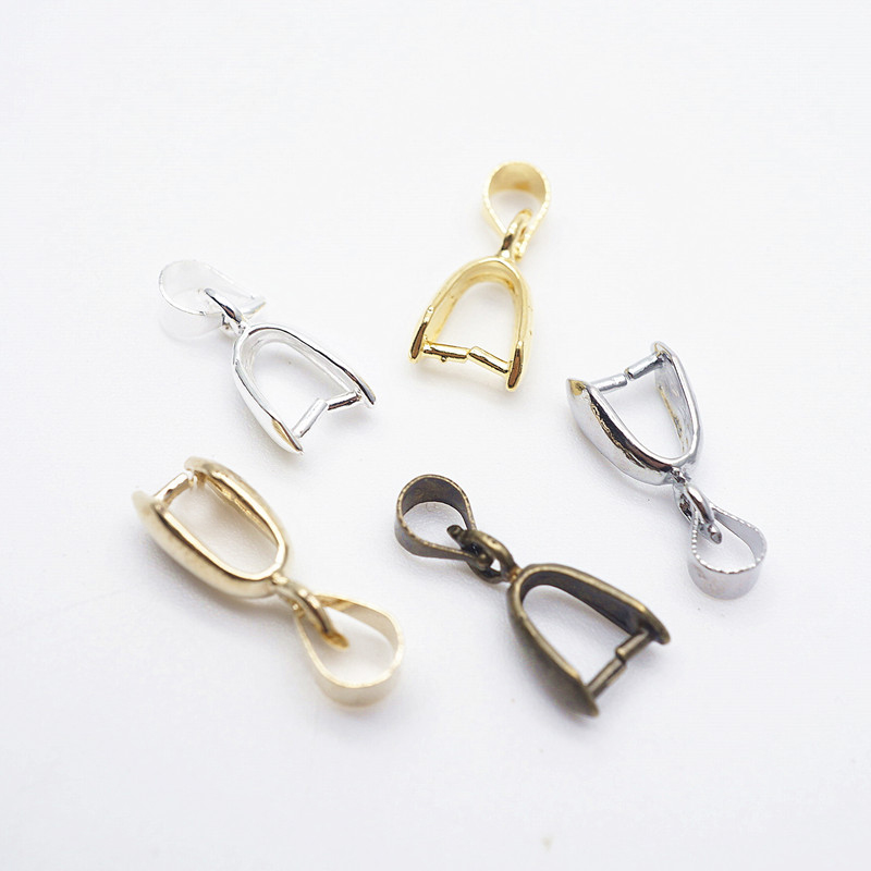 Pendants Clasps Clips Bails Connectors Copper Charm Bail Beads Jewelry Findings