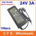 DC 24 В 3A адаптер питания AC/DC 24 В 72 Вт Питания адаптер 5.5 мм х 2.5 мм Fedex Бесплатная доставка оптовых 100 шт./лот Высокое качество