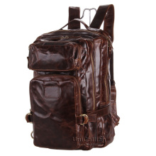 Fashion brand men leather backpack super quality men leather travel backpack bag multifunctional men backpack leather