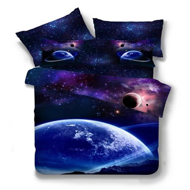 algodn polister d galaxy estrella cielo estrellado universo diseo twin queen juego de sbanas de cama
