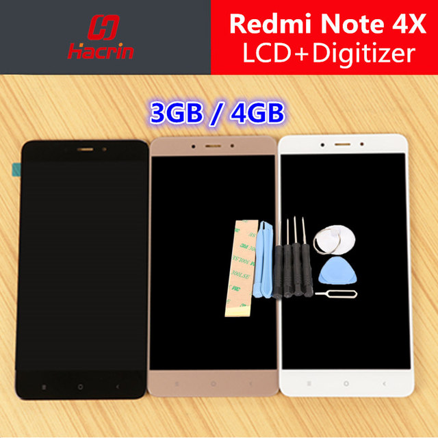 """Xiaomi Redmi Note 4X LCD Display + Touch Screen Digitizer Replacement Test-Good For Xiaomi Redmi Note 4X Pro 5.5"""" Phone"""