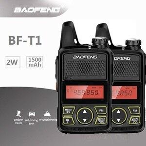 Image 1 - 2 قطعة Baofeng Mini T1 UHF راديو BF T1 اتجاهين راديو هام جهاز الإرسال والاستقبال اللاسلكي FM CB راديو لمطعم فندق الحلاق
