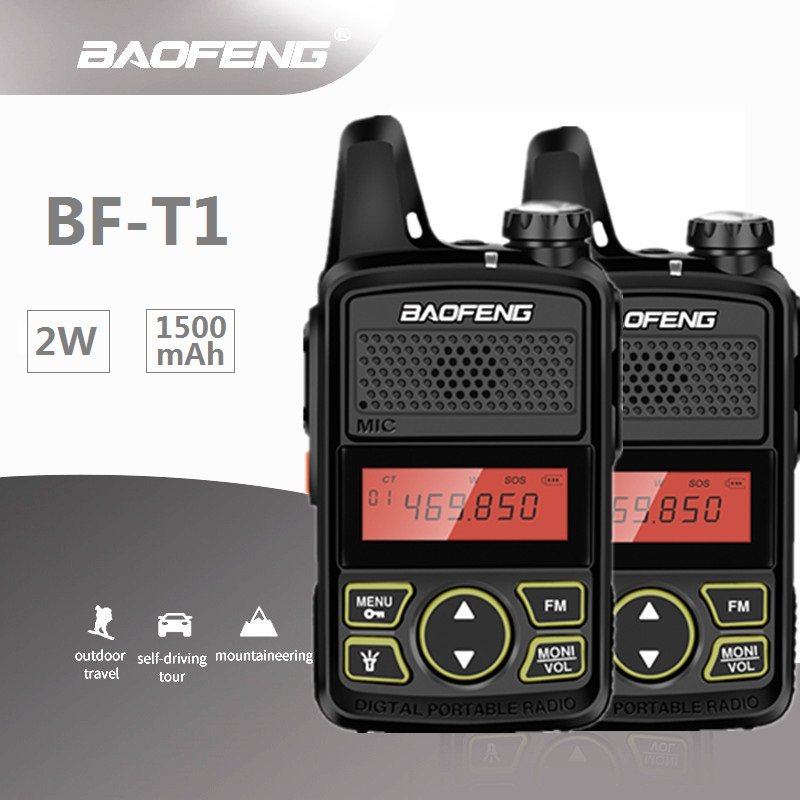2PCS Baofeng Mini T1 UHF Radio BF T1 Two Way Radio Ham Radio Transceiver FM CB Radio For Hotel Restaurant Barber-in Walkie Talkie from Cellphones & Telecommunications