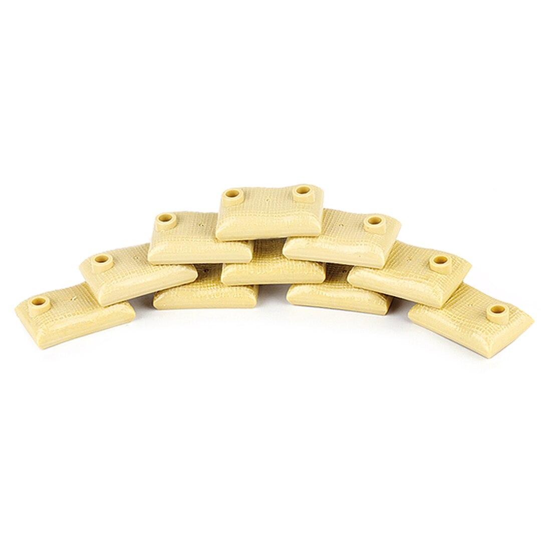 10 шт военные войны тема DIY маленькие частицы строительный блок земляные мешки модель головоломка игрушка для строительных блоков брендов-темно-коричневый - Цвет: 2722929