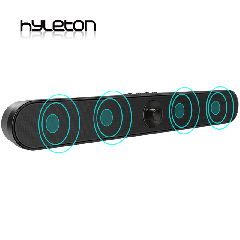 Hyleton LP-s11 Sound Bar 2.0 Channel Bluetooth Soundbar 20W wireless Home Theater Surround Audio Wall Mountable TF AUX USB