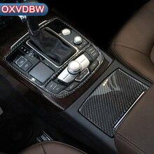 Салона Цельнокройное управление декоративные стакана воды углерода волокно Стикеры для Audi a6 c4 c5 c6 c7 4f Quattro A7 интимные аксессуары