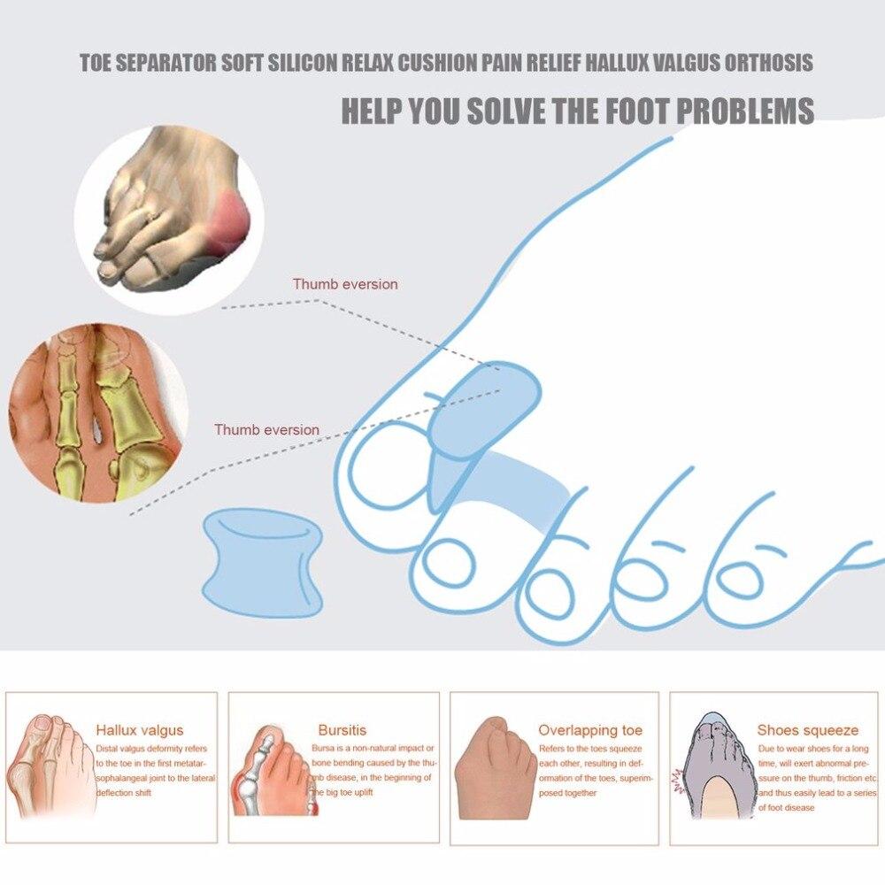 New 7pcs/set Soft Bunion Protector Toe Straightener Toe Separating ...