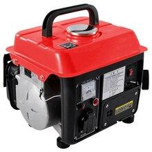 Низкая Шум бензиновый генератор Портативный бытовой миниатюрный 2-х тактный двигатель однофазный бензиновый генератор 110 V/220 V 700W 63CC