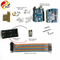 Wifi Control Kit with DT06 wifi Module+ Development Board+ Motor Driver Board+ Dupont Line+ Coupling Kit for Arduino Car DIY Kit